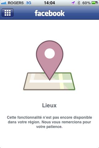 Facebook places canada